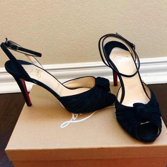 Christian Louboutin Shoes - Christian Louboutin Gres's Black Suede Mule 100